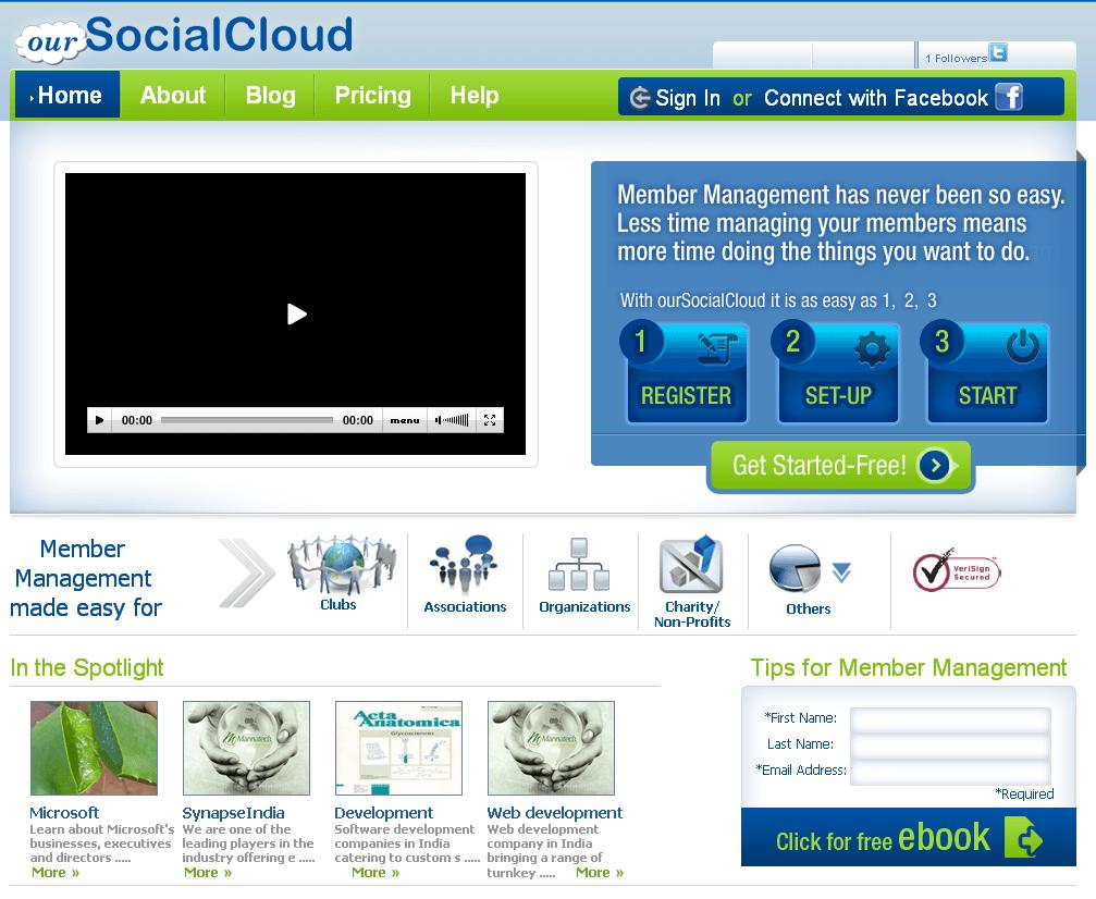 Website for Social Networking Services 'SocialCloud' Using Dot Net