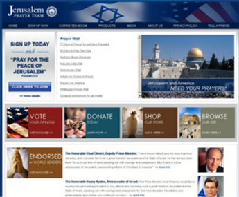 Website for Religious 'Jerusalem Prayer Team' Using Dot Net