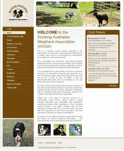 Website for NGO 'Working Australian Shepherd Association' Using Dot Net