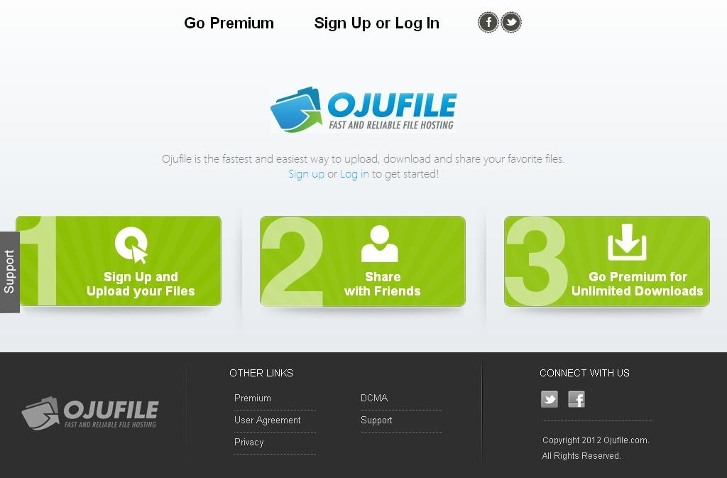Website for Online File Storage Services 'OJUFILE' Using Dot Net
