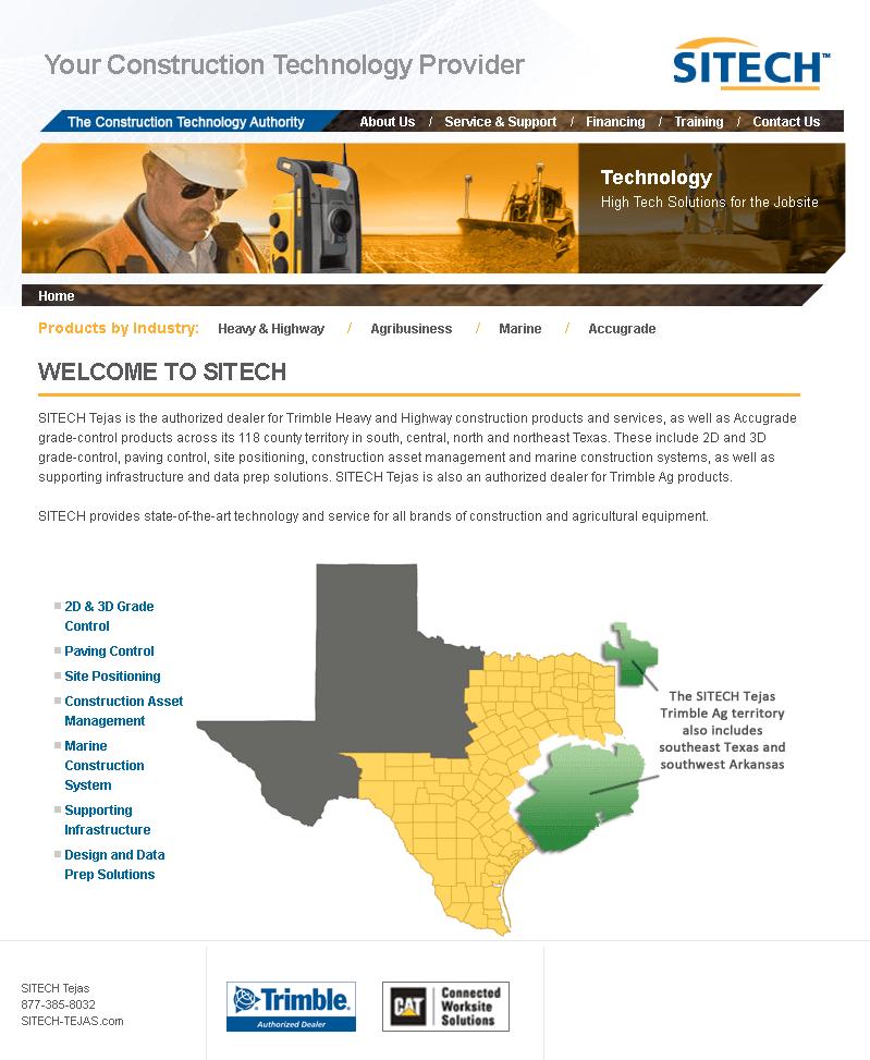 Website for Construction Technology Provider 'SITECH' Using Dot Net