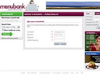 Website for Travel 'menubank' Using Dot Net – Restaurants Listing