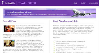 Web Application for Travel 'New York University' – Search and Report