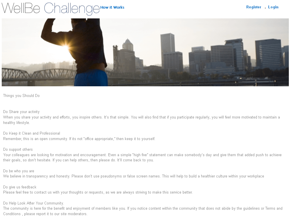 Website for 'WellBe Challenge' Using Dot Net – Online Challenge Community
