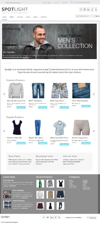 Drupal Based eCommerce Website With Multi-domain Functionality