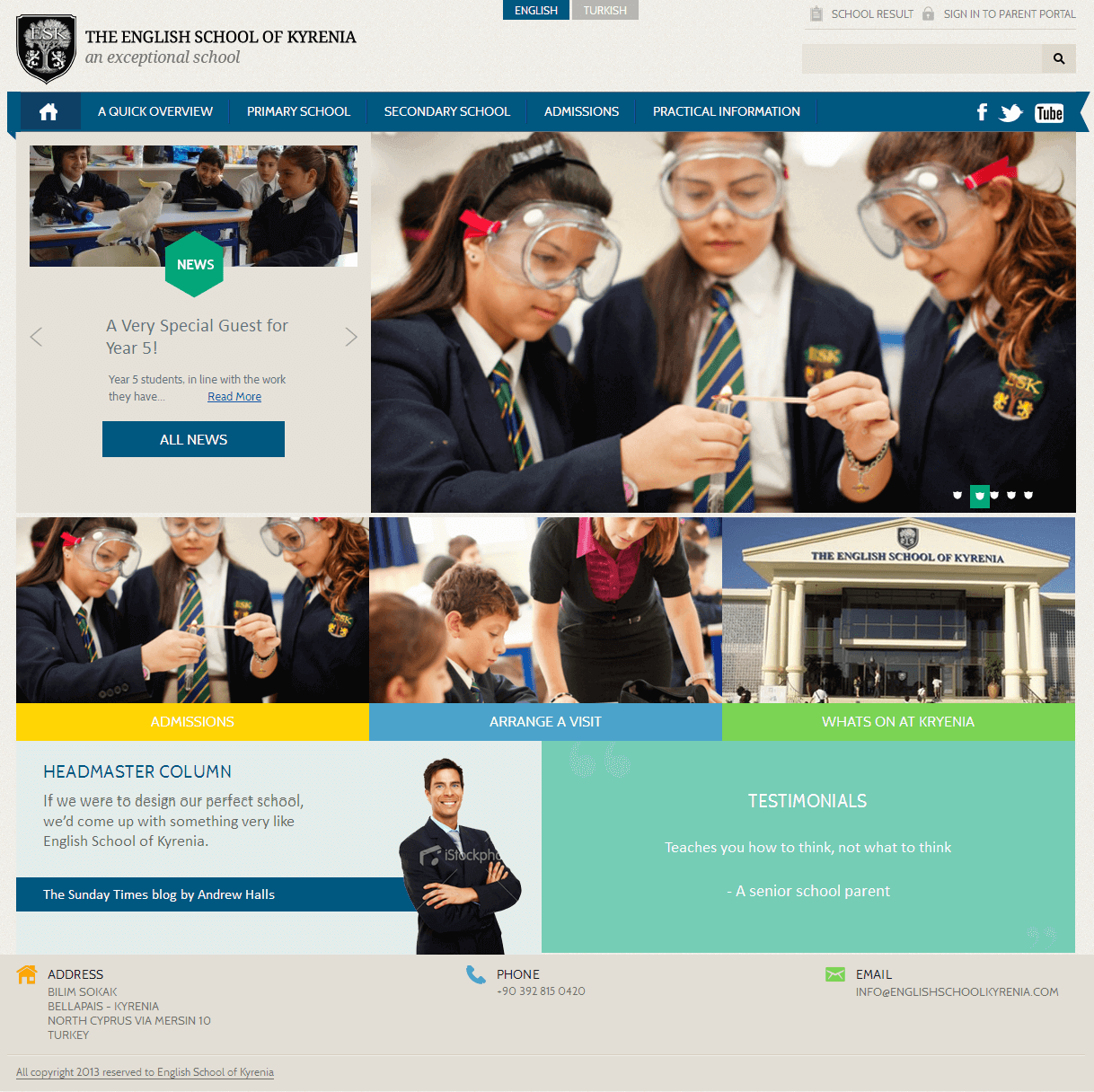 Development of a Drupal Based Website for a School