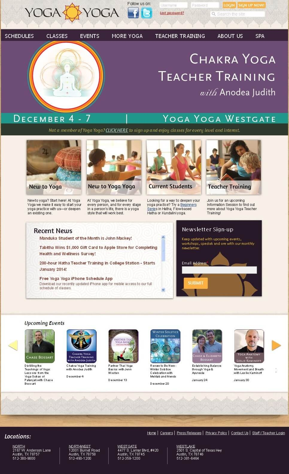 A Drupal Powered Website for Yoga Teacher Training