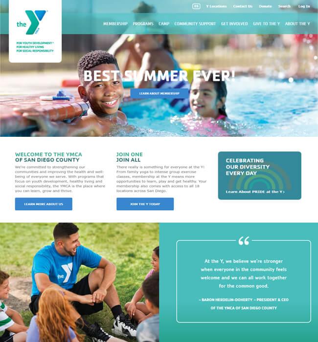 Drupal Website Development for Wellness Industry, USA - YMCA