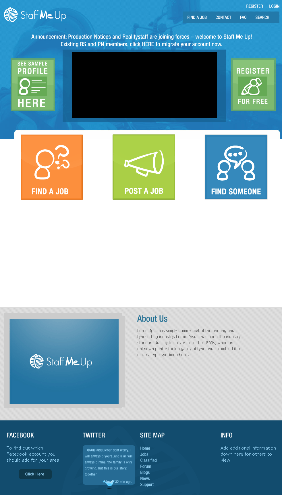 Website for Employment 'Staff Me Up' Using Drupal – Online Job Portal