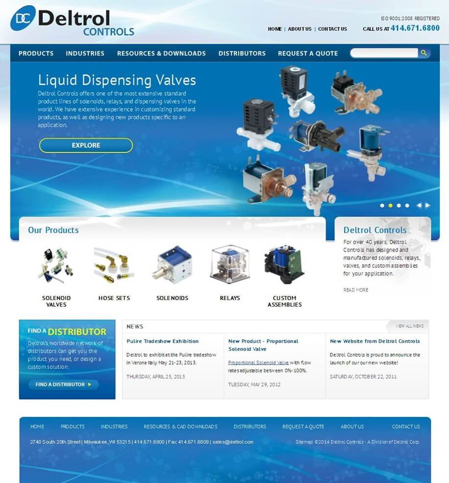 Development of a Drupal Based Website for Electromechanical Control Products
