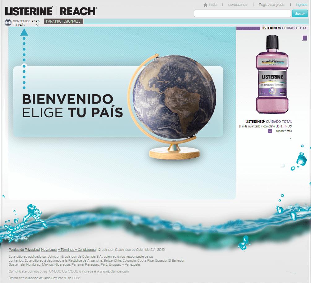 Website for Healthcare 'Listerine Reach' Using Drupal – Dental Care