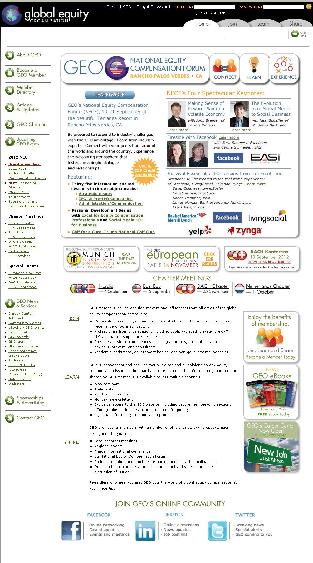 Website for Media 'Global Equity' Using Drupal – Online Stock Forum