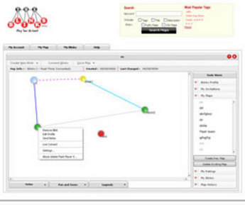 Flash-Based Mapping Software for Social Networking 'Blinks'