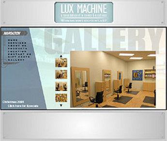 Website for Consumer 'Lux Machine' Using Flash - Upscale Hair Salon