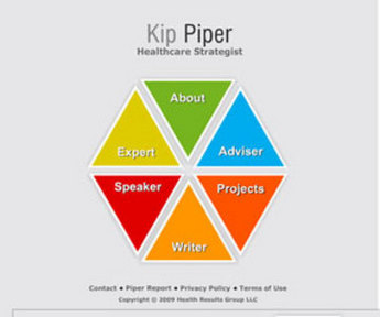 Website for Online Healthcare Strategist 'Kip Piper' Using Flash