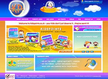 Website for 'KidsPoints' Using Flash- Online Reward Platform for Kids
