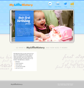 Website for 'My Little History' Using Flash – Photo Sharing Platform