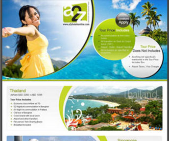 Brochure Design for Tour and Travels Business - A2Z