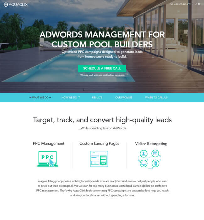 Responsive Website Development for Digital Marketing agency, USA – AquaClix