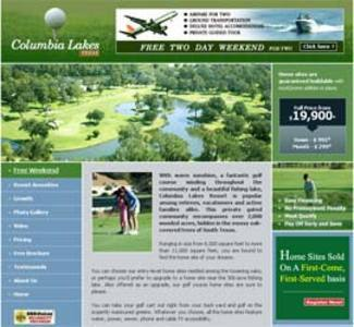 Website for Real Estate 'Columbia Lakes Land' – Properties for Sale