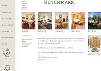 Website for Consumer 'Benchmark Furniture' - Online Furniture Store
