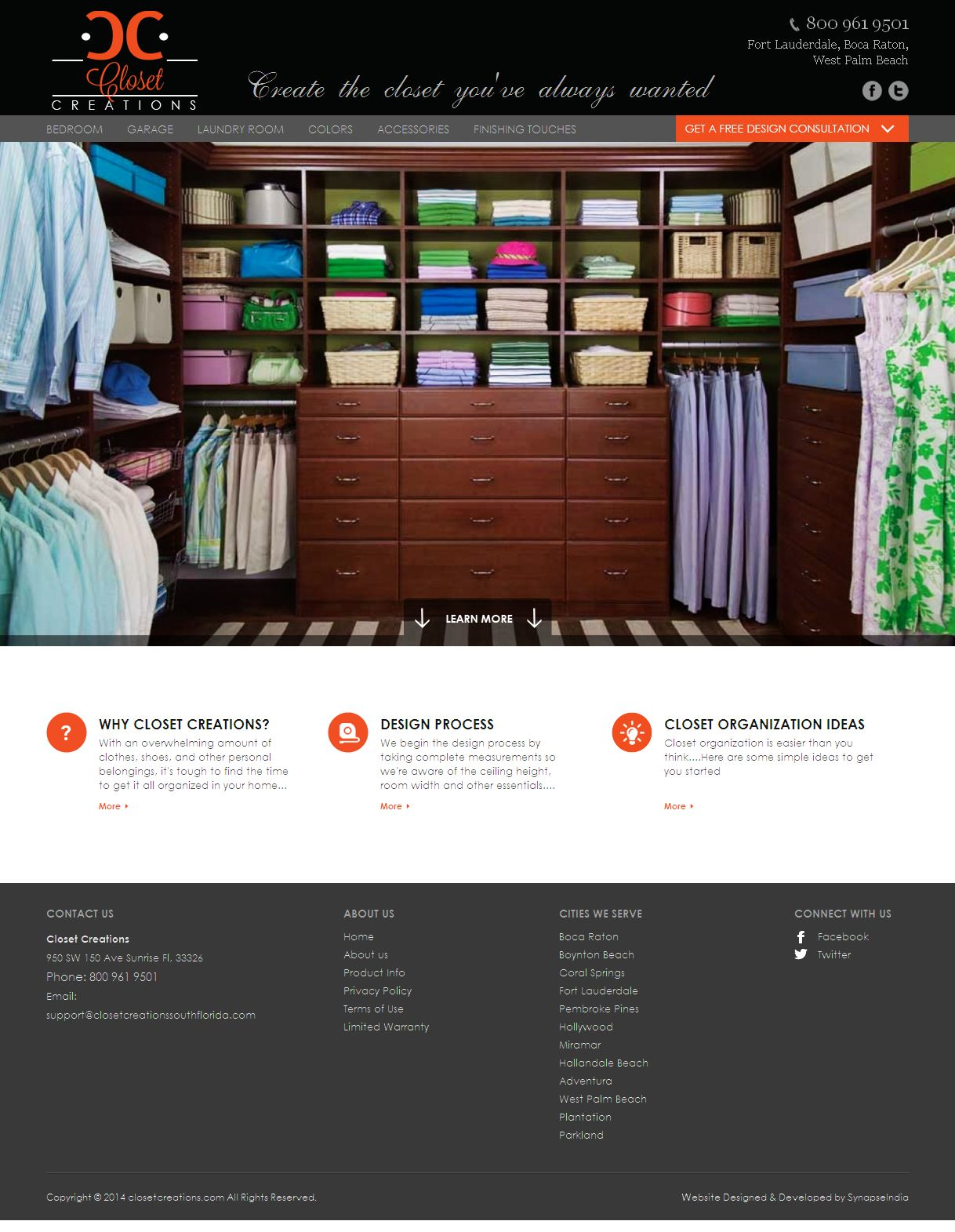 A  CakePHP Based Product Listing Website for Closet Systems