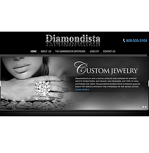 Website for Consumer 'Diamondista' Using HTML – Diamond Jewelry Seller