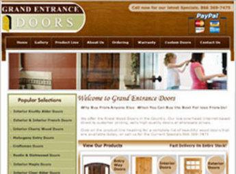 Website for Online Wood Door Seller 'Grand Entrance Doors' Using HTML