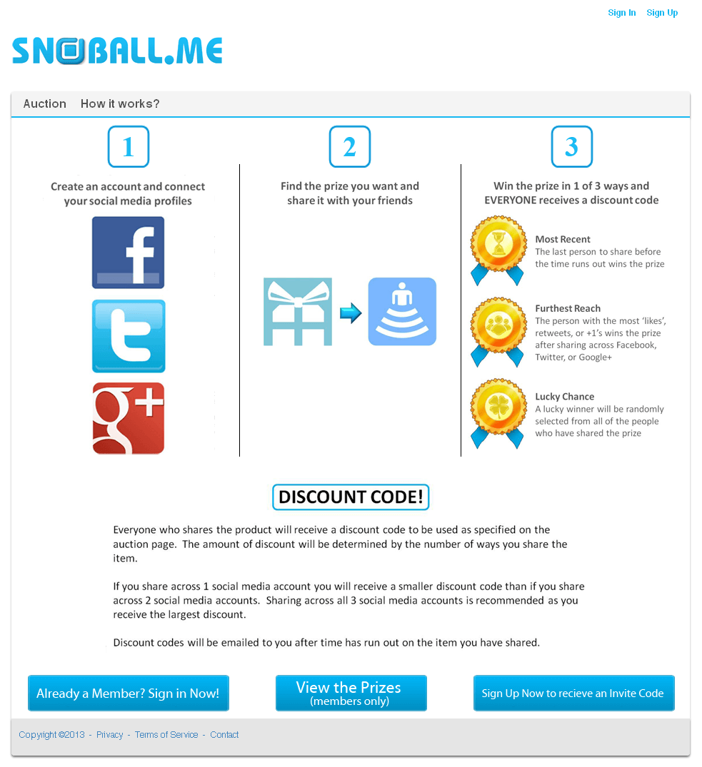 A Prototype Website to Share Products across various Social Networking Sites