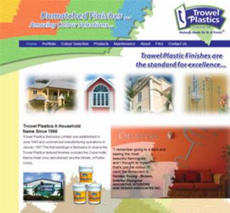 Website for Consumer 'Trowel Plastics' Using HTML - Paint Manufacturer