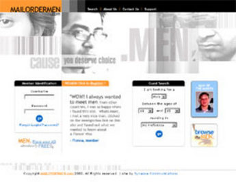 Website for 'Mailordermen' Using HTML – Online Matchmaking Portal