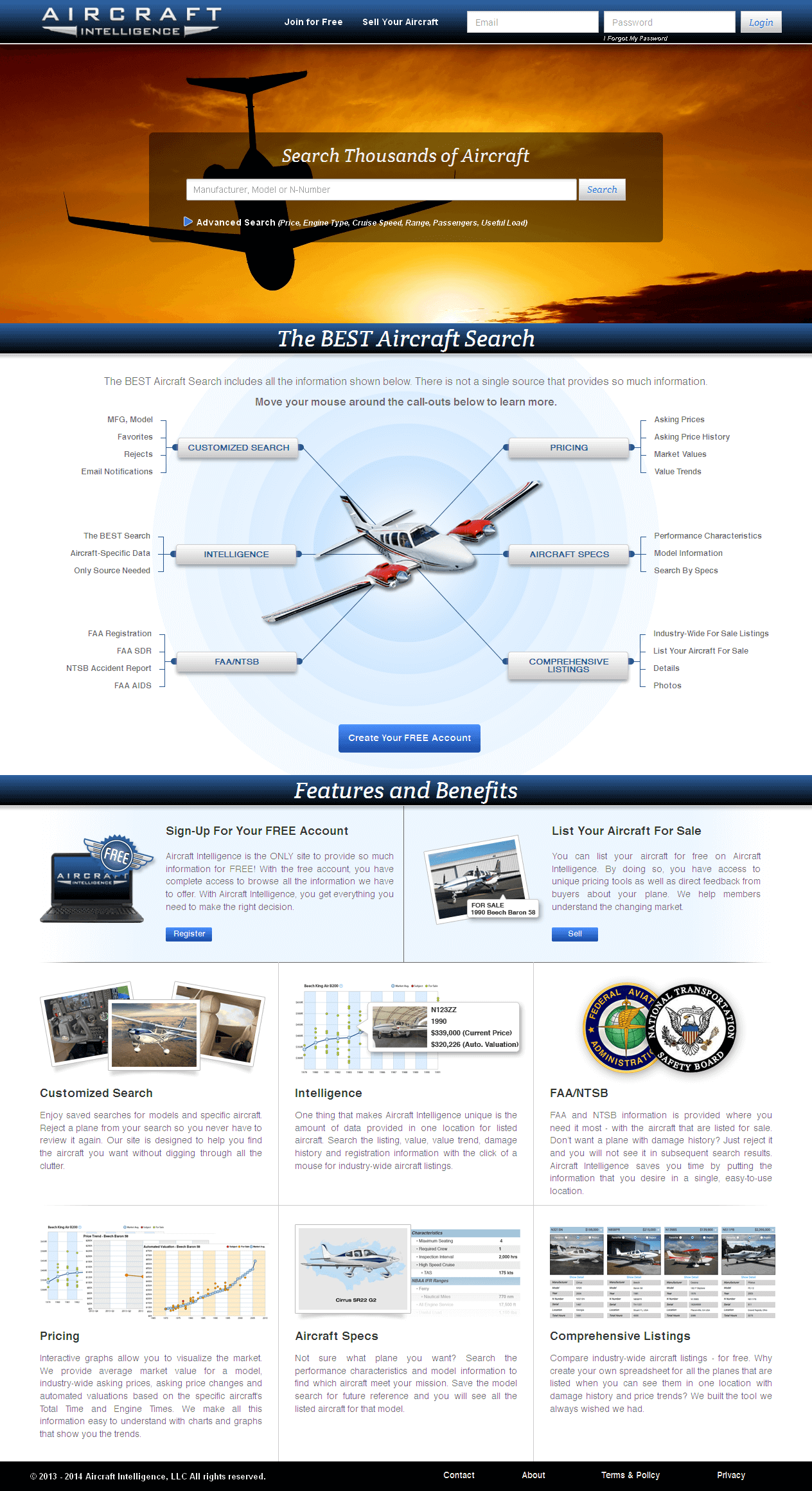 Website for 'Aircraft Intelligence' Using HTML - Aircraft Search Engine