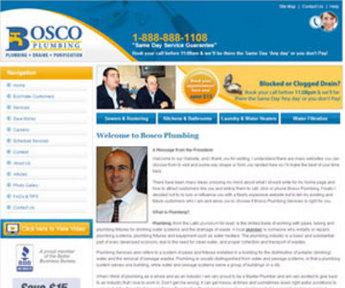 Website Design and Development - Bossco Plumbing
