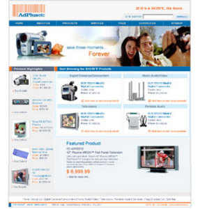 HTML Website for Consumer 'Ad Plus etc'' – Online Sony Products Reseller
