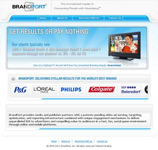 HTML Website for Consumer 'Brandport'' – Advertising Company