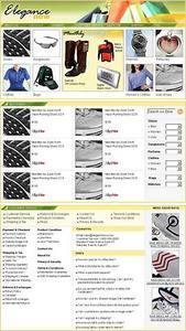 HTML Website for Consumer 'Elegance'' – Affiliate eBay Store