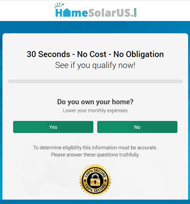 Redesigning an Existing Form Widget for Solar Power Industry - HomeSolarUS
