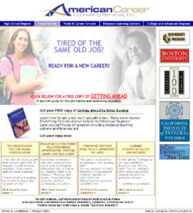 Website Design and Development - Americancareercounseling