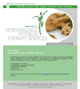 HTML Website for Healthcare 'Performance Physical Therapy Services'