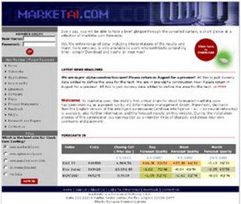 HTML Website for Online Stock Market Forecasting 'MarketAI'