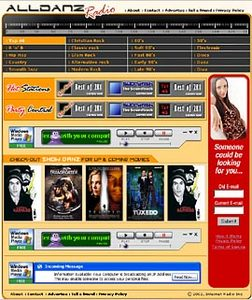 HTML Website for Media 'Alldanz Radio' – Online Radio Service