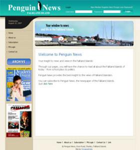 HTML Website for Media 'Penguin News' – Online News Services