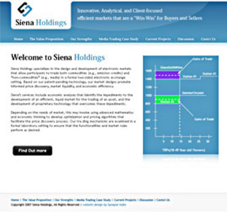 Designed and Developed a Website - Siena Holdings