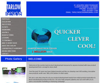HTML Website for Consumer 'Tarlow Design' - Engineering consultant