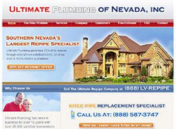 HTML Website for 'Ultimate Plumbing of Nevada, Inc' – Plumbing Company