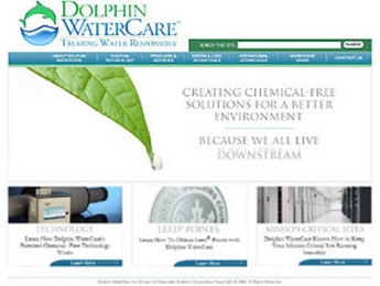 HTML Website for Water Treatment Solution Provider 'Dolphin Water Care'