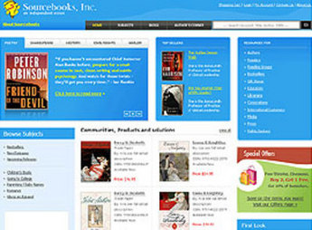 HTML Website for Education 'Sourcebooks, Inc' - Book Publisher