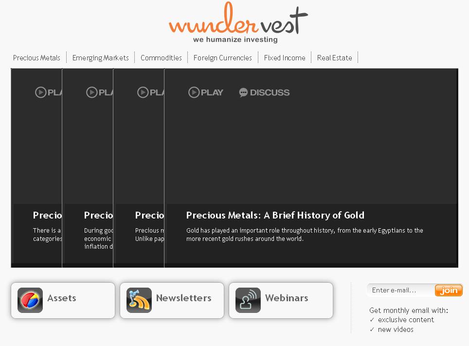 HTML Website for Finance 'wunder vest' – Investment Solution Provider