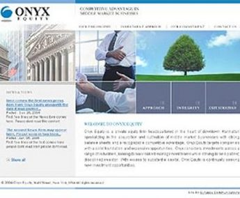 HTML Website for Private Equity Firm 'ONYX Equity'