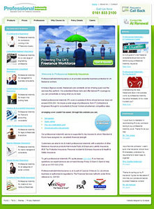 HTML Website for Professional Indemnity Insurance Provider 'PII'